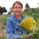Maria Seja, garden plot holder at the community garden.