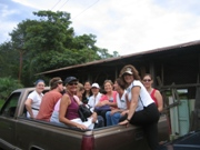 Educators from Colorado traveling through a cloud forest with a wildlife biologist in Guatemala.