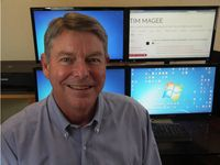 Photo of Tim Magee in his office