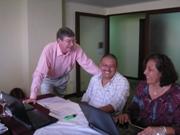 Organizational staff in training workshop.