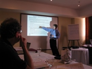 Tim Magee leading a blended training workshop.
