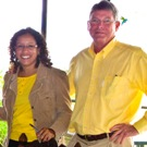 Team Two: María Lucrecia Morataya (Guatemala/Fundaeco) with Tim Magee.