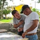 Oscar Recinos facilitating a needs assessment during the workshop.
