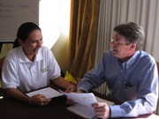 Tim Magee in a coaching program with a client.