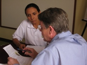 Tim Magee consulting with a client.