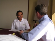 Tim Magee in a mentoring program with a client