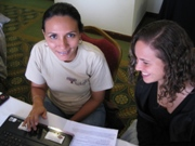 Two women participating in a Mentoring program.